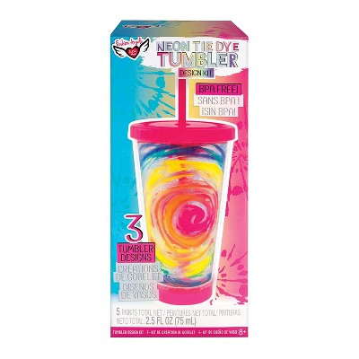 Fashion Angels Fashion Angels DIY Neon Tie Dye Tumbler Kit | Create Your Own Personalized Cup