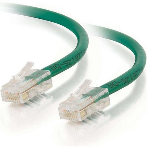 C2G-5ft Cat5e Non-Booted Unshielded (UTP) Network Patch Cable - Green - Category 5e for Network Device - RJ-45 Male - RJ-45 Male - 5ft - Green - image 1 of 4