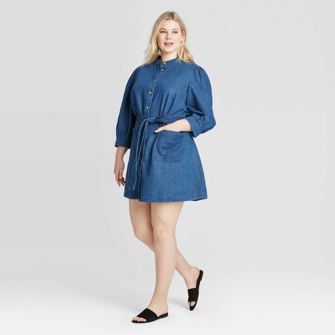 Women's Plus Size 3/4 Sleeve Dress - Who What Wear™ - image 1 of 3