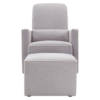 DaVinci Olive Glider and Ottoman - Gray/Cream