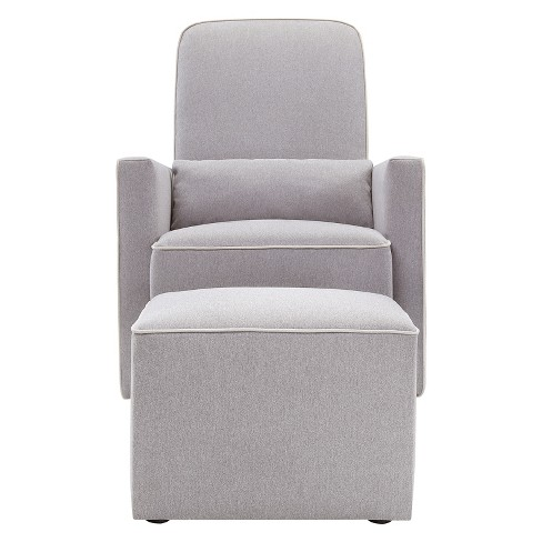 DaVinci Olive Glider and Ottoman - Gray/Cream - image 1 of 4