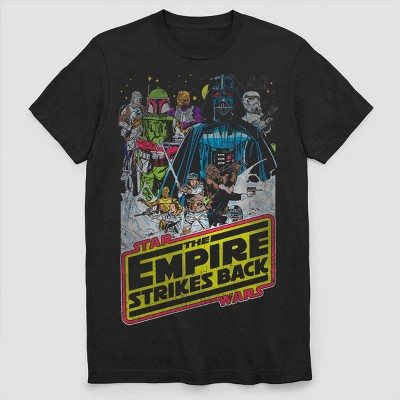 Men's Star Wars The Empire Strikes Back Vintage Poster Short Sleeve Graphic T Shirt   Black by Shirt