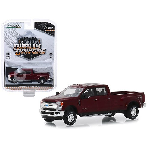 """2019 Ford F-350 Lariat Pickup Truck Ruby Red """"Dually Drivers"""" Series 1 1/64 Diecast Model Car by Greenlight - image 1 of 1"""