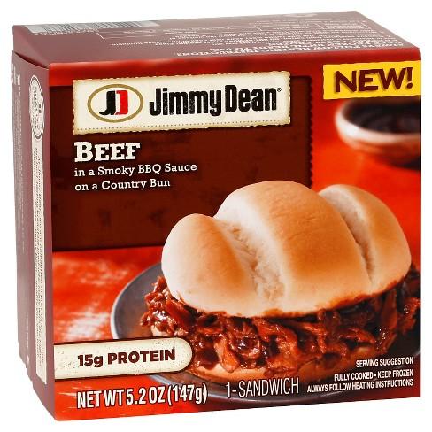 Jimmy Dean BBQ Beef Frozen Sandwich - 5.2oz - image 1 of 1