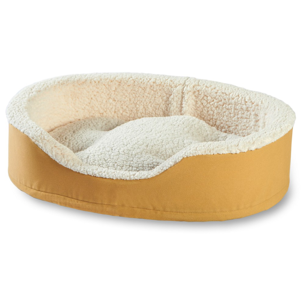 Happy Hounds Oliver Foam Dog Bed - Toast - Medium, Brown