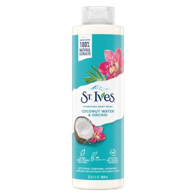 St. Ives Coconut Water & Orchid Plant-Based Natural Body Wash Soap - 22  fl oz