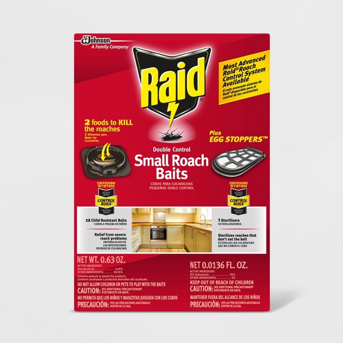 Raid Double Control Small Roach Baits Plus Egg Stoppers 12+3 ct - image 1 of 4