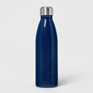 17.5oz Double Wall Stainless Steel Glitter  Water Bottle Blue - Room Essentials™