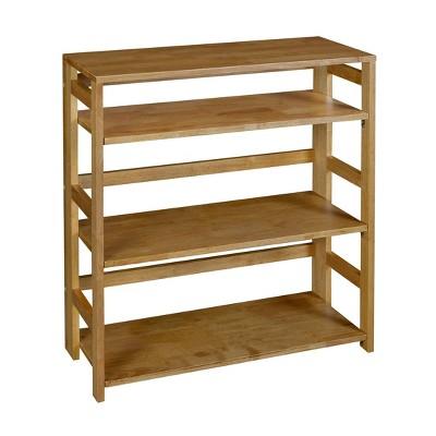 "34"" Cakewalk High Folding Bookcase Medium Oak - Regency"