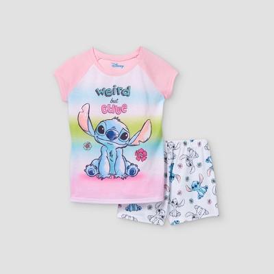 Girls' Lilo & Stitch 2pc Pajama Set - Pink/White