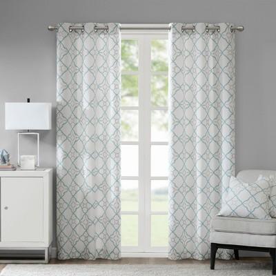 Set of 2 Ren Cotton Printed Window Curtain