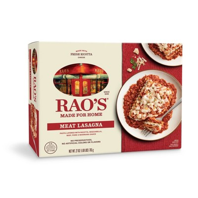Rao's Made For Home Family Size Frozen Meat Lasagna - 27oz