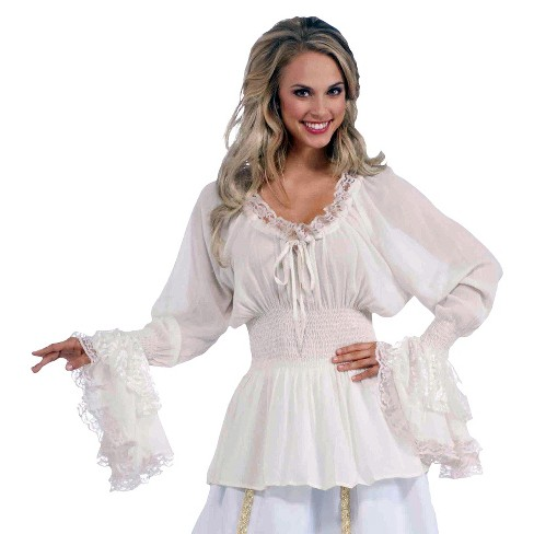 Women's Plus Size Medieval Blouse Costume 2X - image 1 of 1