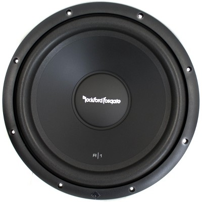 Rockford Fosgate R1S4-12 Prime Series R1 12 Inch Subwoofer Speaker with 200 Watt RMS Power and 4 Ohm SVC for Car or Vehicle Music Sound Audio, Black