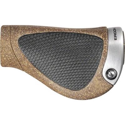 Ergon GP1 Grips-Black//Gray Lock-on Small