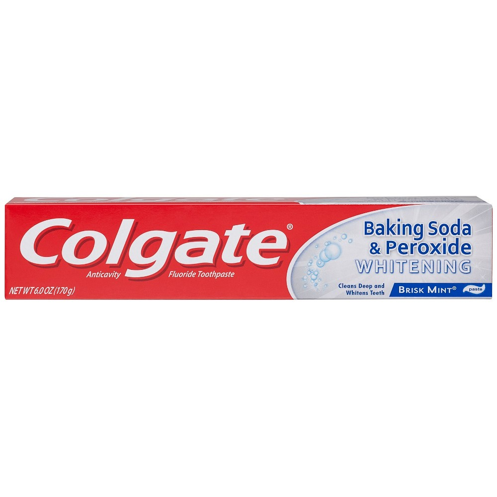 Image of Colgate Baking Soda and Peroxide Whitening Toothpaste Brisk Mint - 6oz