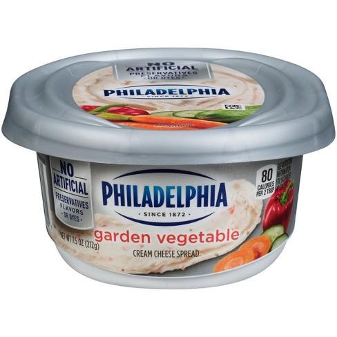 Philadelphia Regular Garden Vegetable Cream Cheese Tub - 7.5oz - image 1 of 3