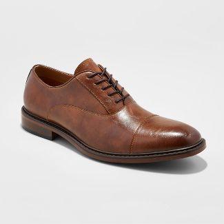 Men's Joseph Captoe Dress Shoe - Goodfellow & Co™ Brown 8