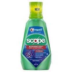Crest Advanced Scope Multi Benefit Fluoride Mouthwash - 33.8 fl oz