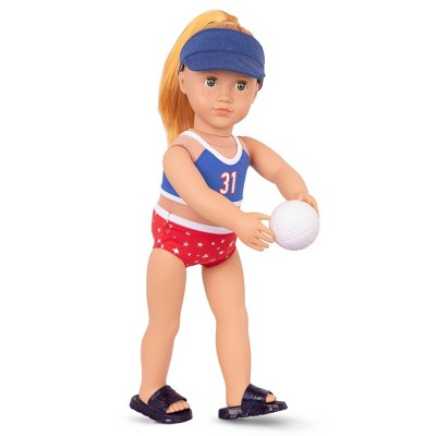 """Our Generation Athletic Team Series 18"""" Volleyball Player Doll - Magnolia"""