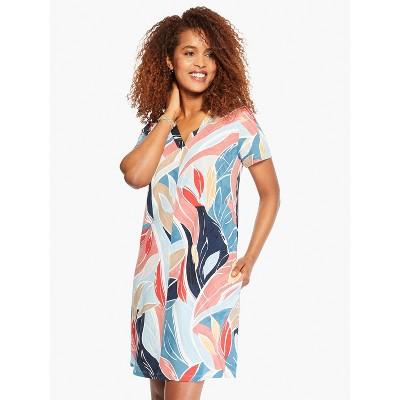 NIC+ZOE Women's Breezy Leaves Dress Blue Multi