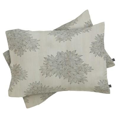 Iveta Abolina Beach Day Floral Pillow Sham Gray - Deny Designs®