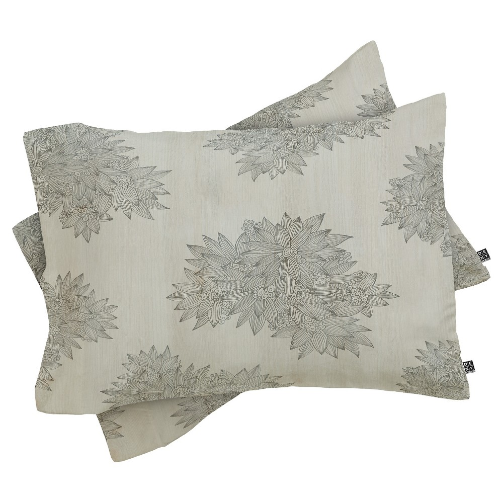 Iveta Abolina Beach Day Floral Pillow Sham (Standard)1pc - Deny Designs, Multicolored Gray