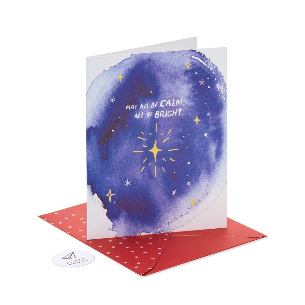 Image of Paper Rebel May All Be Calm Greeting Card Pack American Greetings, Blue