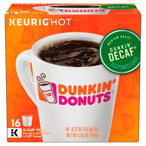 2dd2c1da9e1 Dunkin' Donuts Dunkin' Decaf Medium Roast Coffee - Keurig K-Cup Pods - 16ct