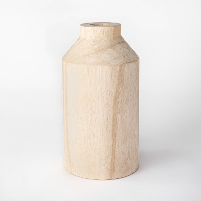 "12"" Decorative Wooden Vase Natural - Threshold™ designed with Studio McGee"