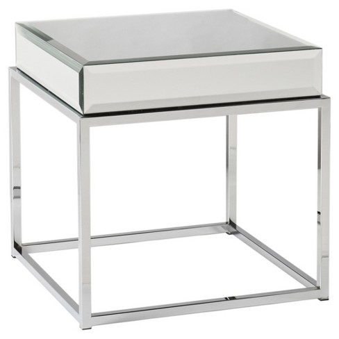 Dessie Mirrored End Table - Aiden Lane - image 1 of 2