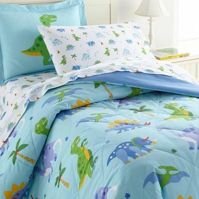 5pc Twin Dinosaur Land Cotton Bed in a Bag - WildKin