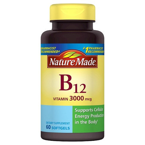 Nature Made Vitamin B-12 Dietary Supplement Softgels - 60ct - image 1 of 2