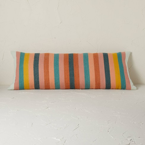 Oversized Oblong Woven Stripe Decorative Throw Pillow - Opalhouse™ designed with Jungalow™ - image 1 of 4