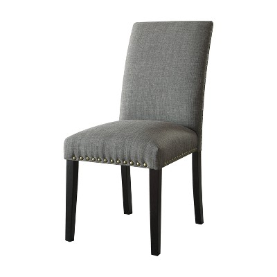Gregory Side Chair Set of 2 Stone Gray - Acme