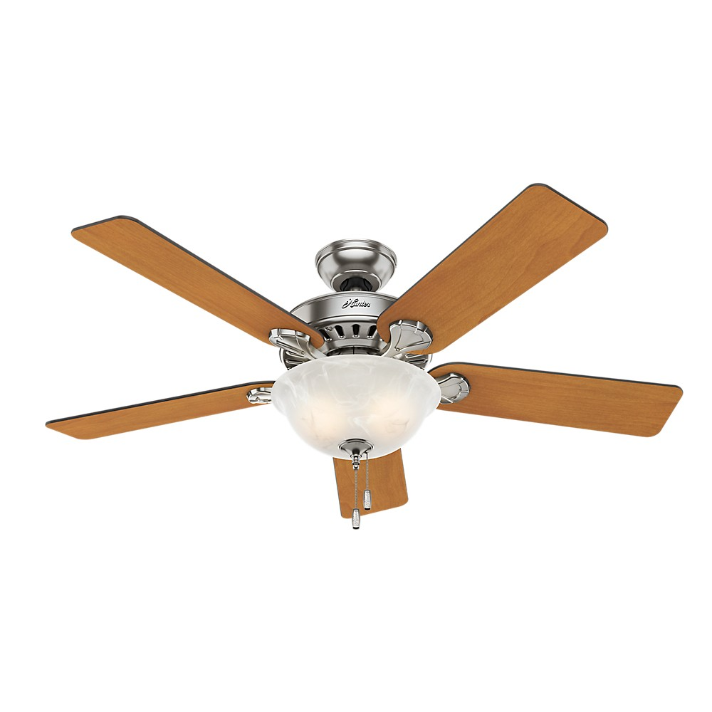 """Image of """"52"""""""" LED Pro's Best Five Minute Fan Lighted Ceiling Fan Brushed Nickel - Hunter Fan"""""""