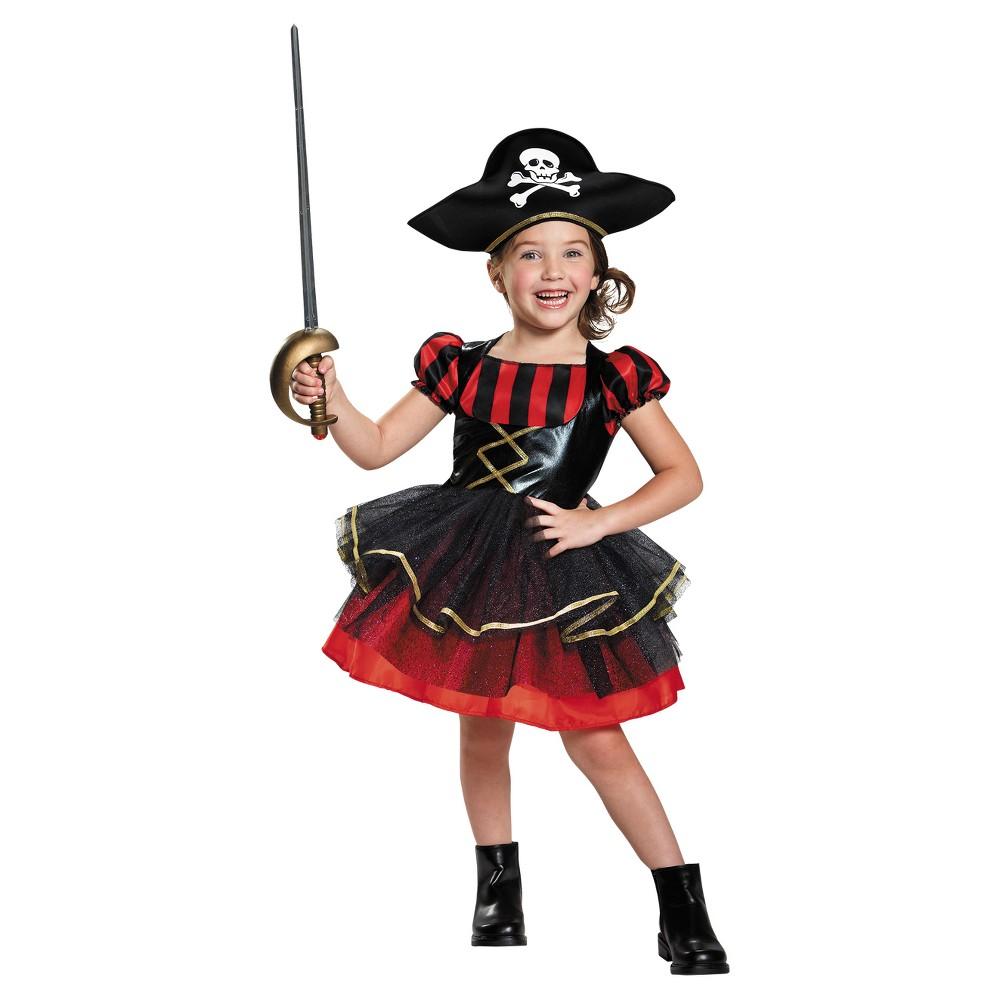 Girls' Precocious Pirate Costume 2t, Multicolored