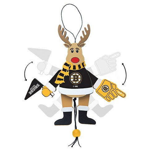 Topperscot by Boelter Brands NHL Team Wooden Cheering Reindeer Ornament - image 1 of 1