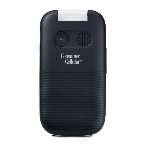 Consumer Cellular Postpaid Doro 7050 (4GB) Flip Phone - Black