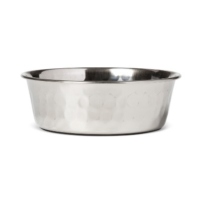 Hammered Stainless Steel Cat & Dog Bowl - Silver - Small - Boots & Barkley™