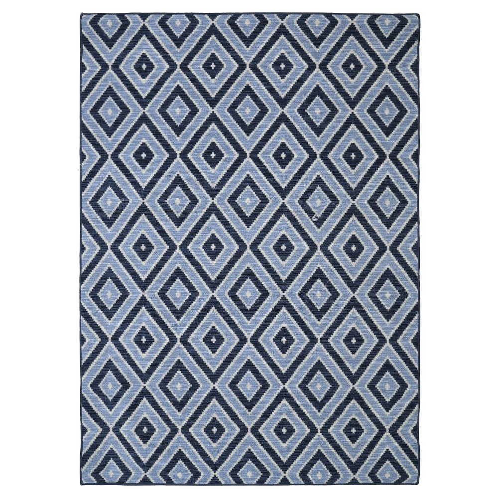 Image of 5'X8' Diamond Area Rug Blue - Mohawk