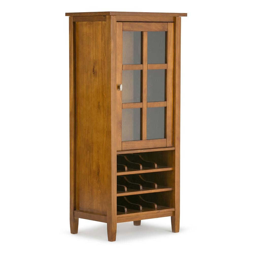 Warm Shaker High Storage Wine Rack - Honey Brown - Simpli Home, Honey Kissed