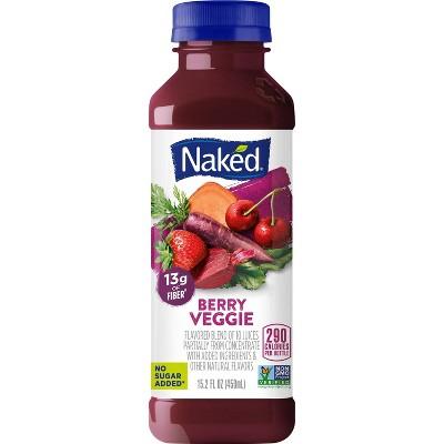 Naked Berry Veggie Juice Vegan Smoothie - 15.2oz