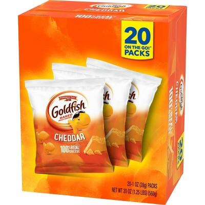 Pepperidge Farm Goldfish Cheddar Crackers Multipack - 20oz/20ct