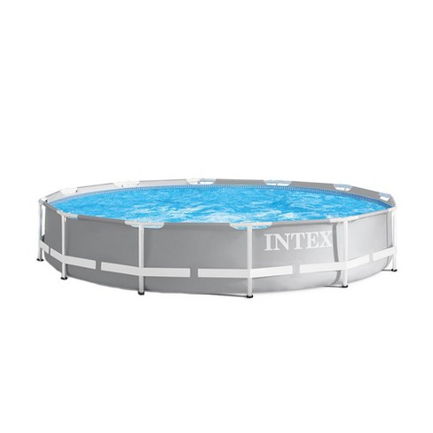 Intex 12 Foot X 30 Inches Durable Prism Steel Frame Above Ground ...