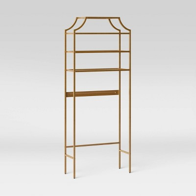 Metal/Glass Etagere Brass - Opalhouse™