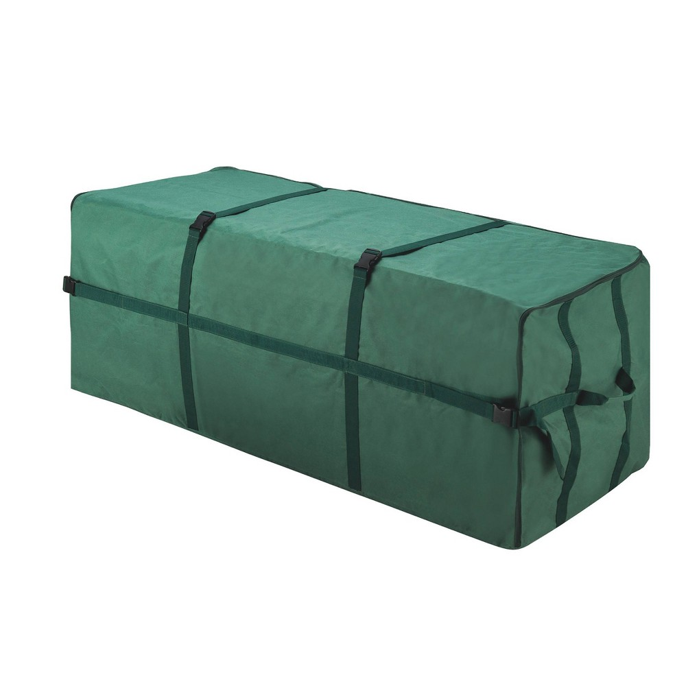 Image of 9' Heavy Duty Canvas Christmas Tree Storage Bag Large Green - Elf Stor