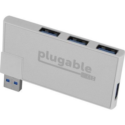 Plugable Rotating 4-Port USB 3.0 Portable Bus Powered Hub - USB - External - 4 USB Port(s) - 4 USB 3.0 Port(s) - PC, Mac, Linux