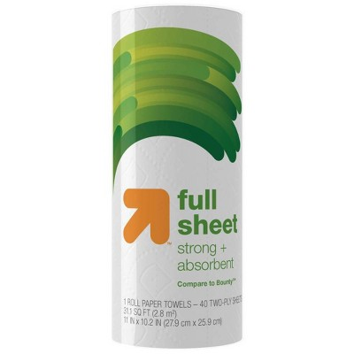Full Sheet Paper Towels - 1 Roll - Up&Up™