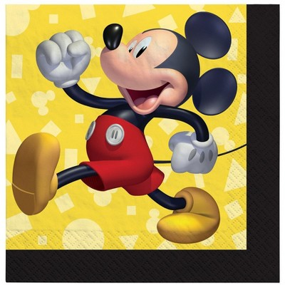 Birthday Express Mickey Mouse Forever Beverage Napkins - 16 Pack